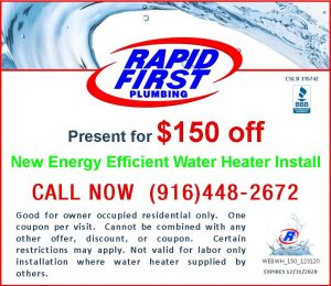 $150 Off New Water Heater