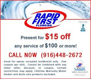 Save Dollars on Drain or Plumbing $15 Discount