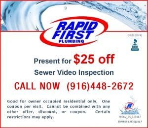 Save $25 Sewer Video Inspection