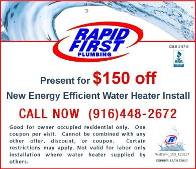$150 Off New Water Heater and Installation