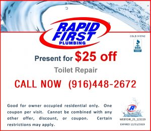 $25 Off Coupon for Toilet Repair