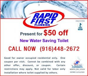 $50 Off New Water Saving Toilet