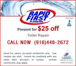 $25 Off Coupon for Toilet Repair